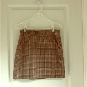 Jcrew plaid skirt